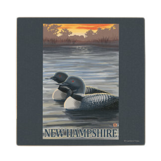 New HampshireCommon Loon Wood Coaster