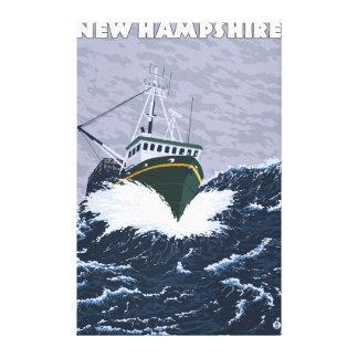 New HampshireCrab Fishing Boat Scene Canvas Prints