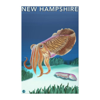 New HampshireCuttlefish Scene Stretched Canvas Prints