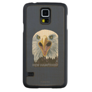 New HampshireEagle Up Close Carved Maple Galaxy S5 Case