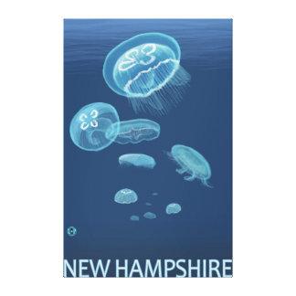 New HampshireJellyfish Scene Canvas Print