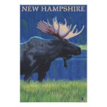 New HampshireMoose in the Moonlight Posters
