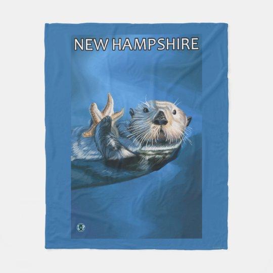 New HampshireSea Otter Scene Fleece Blanket