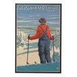 New HampshireSkier Admiring View Wood Print