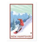 New HampshireSnowboarder Scene Postcard