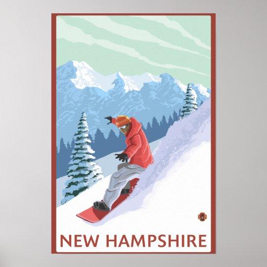 New HampshireSnowboarder Scene Poster