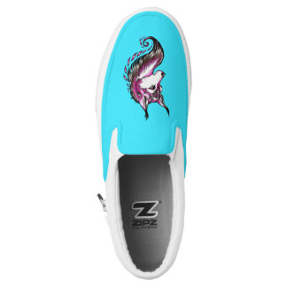 New Hand Drawn Wolf Switchable ZIPZ® Shoes