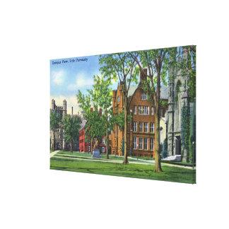 New Haven, CTYale University Campus View Canvas Print