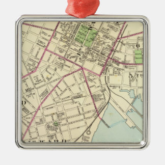 New Haven Map Christmas Ornament