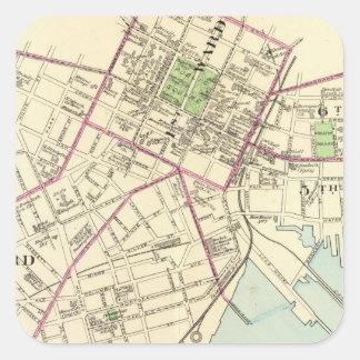 New Haven Map Square Sticker