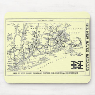 New Haven Railroad 1956 Map Mouse Mat