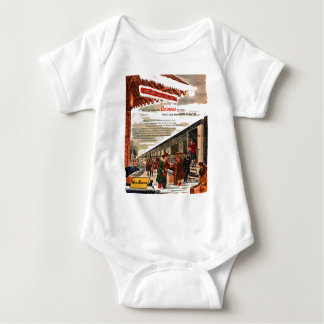 New Haven Railroad Christmas 1947 Baby Bodysuit