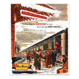 New Haven Railroad Christmas 1947 Photo Print