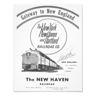 New Haven Railroad-Gateway To New England 1950 Photo Print