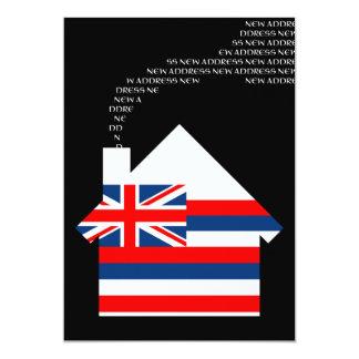 new hawaii address 13 cm x 18 cm invitation card