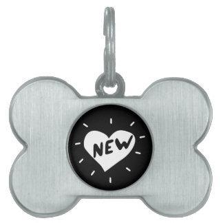 New Heart / Bone Pet Tag
