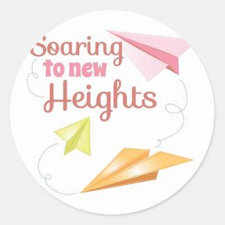 New Heights Round Sticker