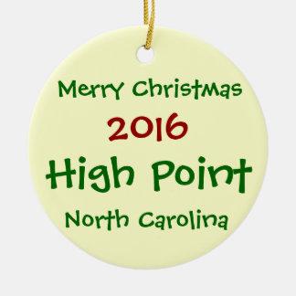 NEW HIGH POINT NORTH CAROLINA CHRISTMAS ORNAMENT