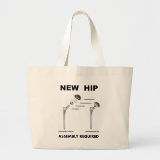 New Hip - Assembly Required Large Tote Bag