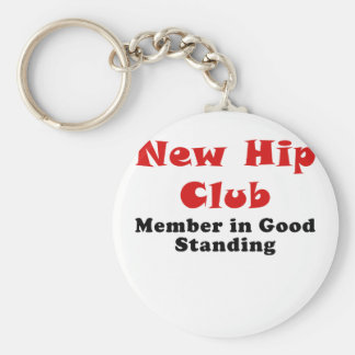 New Hip Club Member in Good Standing Basic Round Button Key Ring