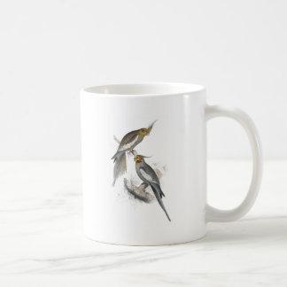 New Holland Parrakeet by Edward Lear Coffee Mugs