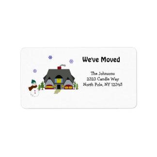 New Home Address Address Label