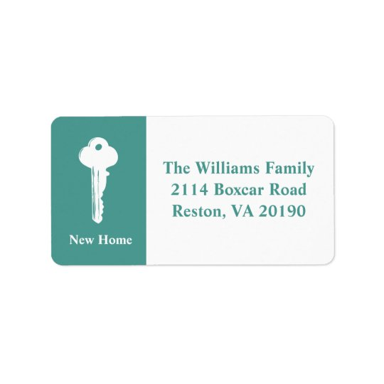 New Home Address Labels - Turquoise
