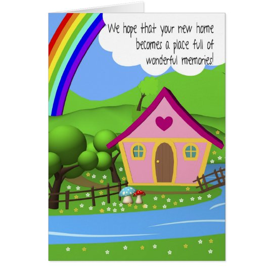 New Home Cartoon House Greeting card