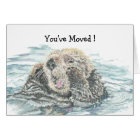 New Home Congrats Humour  Cute Excited Otter Card