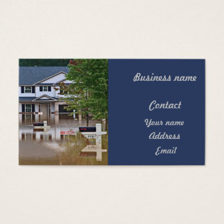 New home flooded due to storm business card