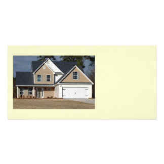 new home for sale custom photo card