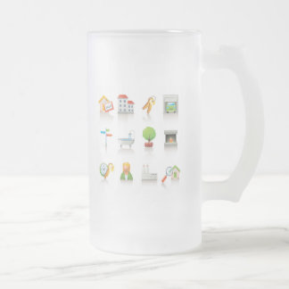 New Home Frosted Glass Mug