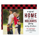 New Home Holiday Photo Card | Red Buffalo Plaid