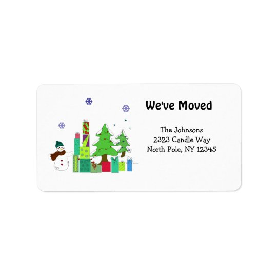 New Home Holidays Address Label