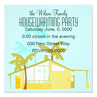 New Home in the Palms 13 Cm X 13 Cm Square Invitation Card