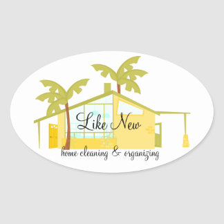 New Home in the Palms Oval Sticker