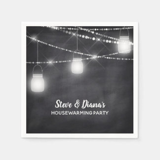 New Home Mason Jar Chalkboard Housewarming Party Disposable Serviettes