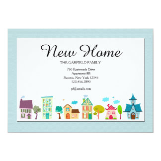 Moving house cards invitations for Moving home cards template