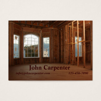 New home under construction business card