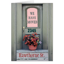 """New Home We""""ve Moved Greeting Card"""