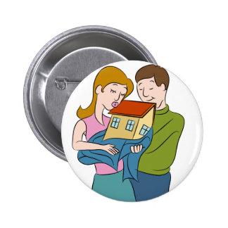 New Homeowners Cartoon 6 Cm Round Badge