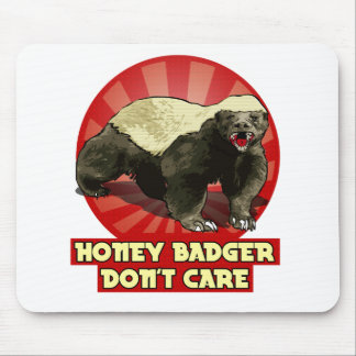 New Honey Badger Don't Care Mousepads