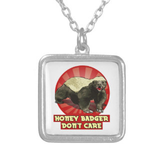New Honey Badger Don't Care Personalized Necklace