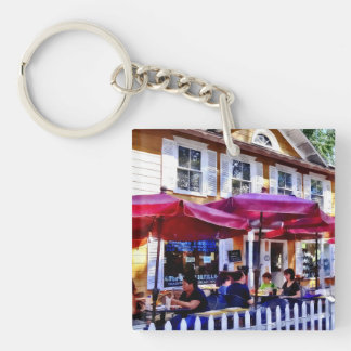 New Hope PA - Dining Al Fresco Double-Sided Square Acrylic Key Ring