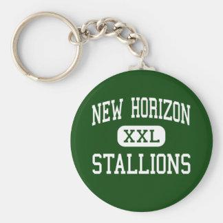 New Horizon - Stallions - Continuation - Banning Basic Round Button Key Ring