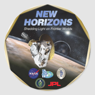 New Horizons Mission To Pluto! Classic Round Sticker