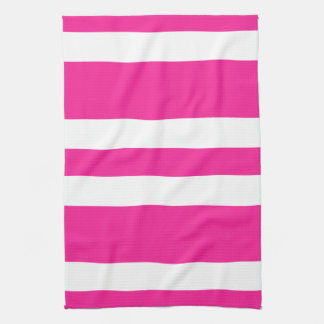 New Hot Pink & White Stripe Kitchen Towel Gift