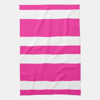 New Hot Pink & White Stripe Kitchen Towel Gift