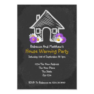 New House Warming Party Blackboard Doodle 9 Cm X 13 Cm Invitation Card