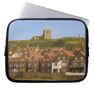 New housing and St Margarets church, Whitby, Laptop Sleeve